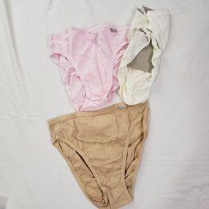 Jockey Elance French cut panties sz 7 Assorted
